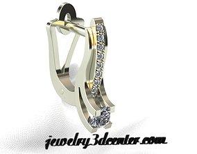 3D print model earrings ER 41 dangle