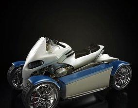 Four Wheel Motorbike 3D model