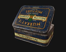 3D asset low-poly Old Tobacco Tin - Murrays Mixture
