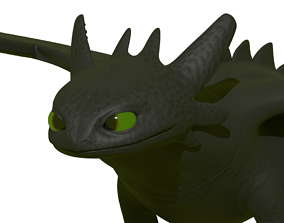 rigged Toothless Model