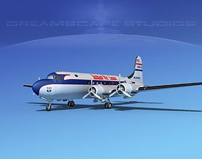 Douglas DC-4 United Airlines 1 3D model