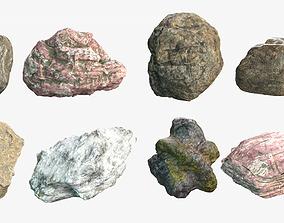 3D model terrain Rock Collection 1