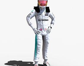 Lewis Hamilton 2017 3D model