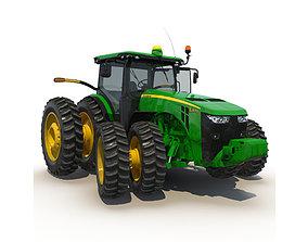 3D Tractor John Deere 8RT Rigged