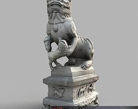 Lion-statue-013F 3D model
