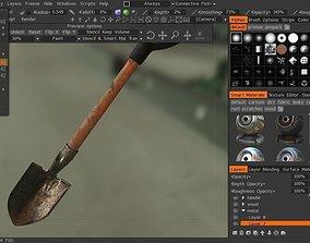 shovel realistic 3D model realtime