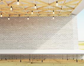 Wooden suspended ceiling 6 3D asset