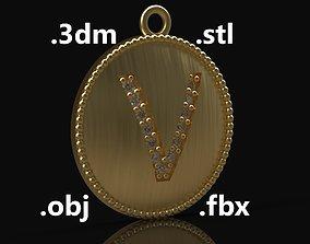 Model 186 Alphabets Necklace The Letter V Necklace 1