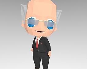Man in suit 3D asset