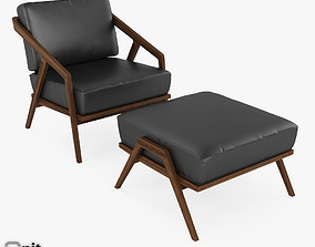 Katakana Lounge Chair Ottoman by Dare Studio 3D model