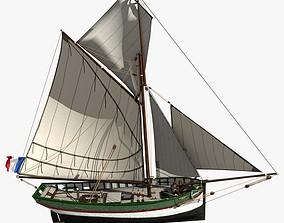 Brittany Shell Fishing Boat 15m -1850 3D