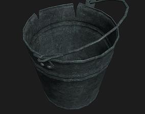 3D model Broken metal bucket