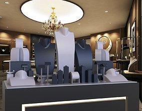 luxury jewellry window design 3D print model silver