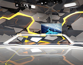 Virtual Broadcast Studio 13 3D model