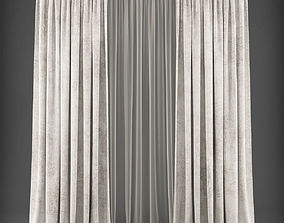 Curtain 3D model 307 game-ready
