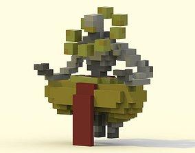 3D asset Voxel Zenyatta from Overwatch