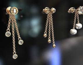 Multi-part earrings 3D printable model