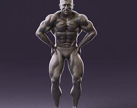 bodybuilder in black underpants 1103 3D Print