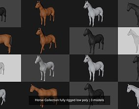 3D model Horse Collection fully rigged low poly