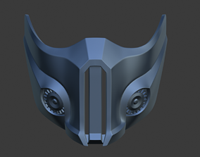 Sub Zero Cyber ninja mask for face 3D printable model 6
