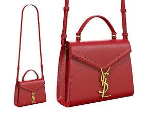 YSL Saint Laurent Cassandra Mini Top Bag Red 3D model