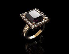 3D print model Morganite with Diamond Halo Ring