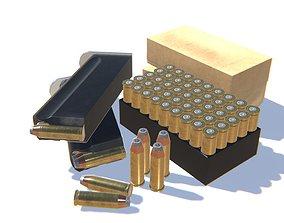 3D model VR / AR ready 44Magnum Ammo Pack