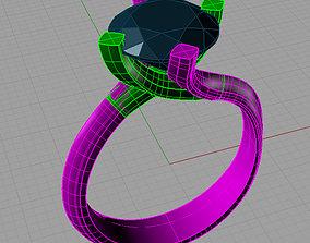 3D print model Solitaire -St Valentino Round Anello 1