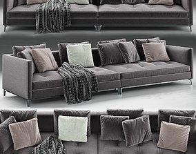 3D Minotti Andersen Slim 103 Quilt Sofa