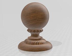 Wooden ball finial 3D print model