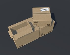 3D model PBR Cardboard Boxes Animated And Destructible