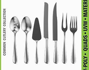 3D model Common Cutlery Serving Set 7 Pieces