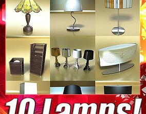 10 Table Lamps Collection 3D