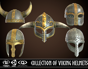 3D model Collection of Viking Helmets
