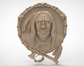 Indian chief-2 3D models for artcam and aspire