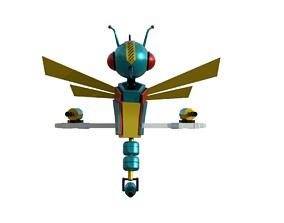 Robotic Dragonfly 3D model