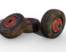 Rubber Tire with Rim 3D model
