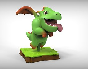 Baby Dragon Clash of Clans 3D printable model