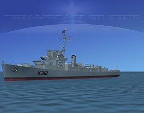 3D model UK Captains Class Frigate Berry