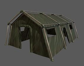Military Framed Tent 3D asset