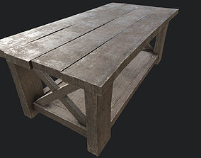 3D model Wooden Table 2 PBR