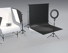 3D model Photo studio asset pack