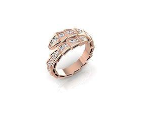 3D printable model Ring SERPENT diamond