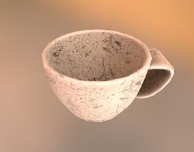 Tea cup 3D asset low-poly