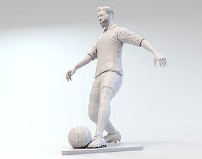 Footballer 03 Footstrike 01 STL 3D print model