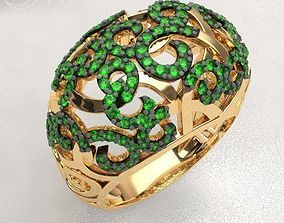 Openwork gems ring 3D printable model
