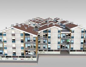 Suburban Condos 2 3D asset