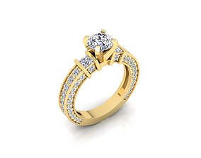 jewelry Solitaire Ring 3d Print Model