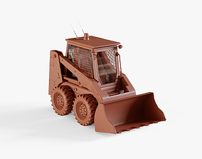 3D model VR / AR ready Skid-steer loader