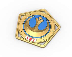 Republic medal from The Mandalorian TV 3D printable model